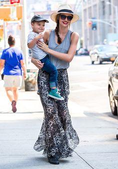 La jupe longue de Miranda Kerr