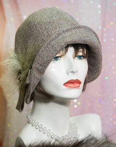 Classic Cloche Hat 1920s Downton Abbey Flapper in by aileens4hats, £65.00