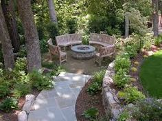 Image result for round brick circle for portable fire pit
