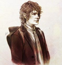 Bilbo; looks like one of Ori's drawings. Kira always loves watching him draw. It's actually quite calming.