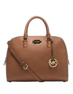 Michael Kors Large Satchel Luggage Saffiano Leather