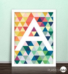 Triangles and more triangles optical effect and an by planeta444, €6.00