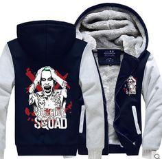 Suicide Squad Joker Gray Cosplay Coat Hoodie