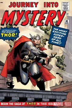 "THE MIGHTY THOR VOL. 1 OMNIBUS HC cover by Olivier Coipel. Homage to ""Journey into Mystery,"" #83 (Aug. 1962)."
