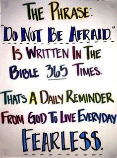 Do not draw back. Fear Not for I AM with you. ♥