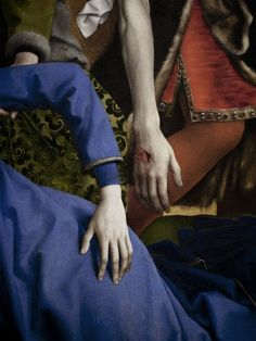 (Detail) The descent from the Cross by Rogier Van der Weyden (1435).