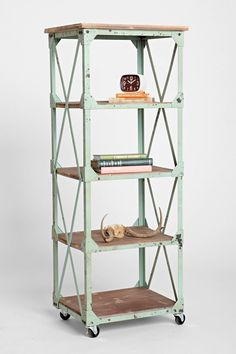 Factory Rolling Bookcase - Urban Outfitters - $300