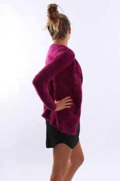 Hungry Eyes Cardigan Plum - Knits - Shop by Product - Womens