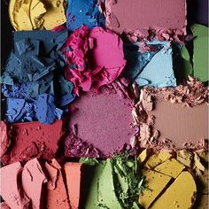 With the colours of Spring burgeoning around us, inject some colour into your (beauty) life by way of lids; remember light colours will highlight and emphasise shallow areas. Photo by Jed Root. #eyeshadow #makeup #colours