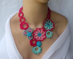 Sweet Statement | This crocheted necklace was inspired by a … | Flickr