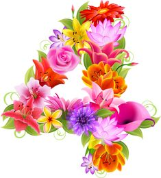 """Photo from album """"Цифры."""" on Yandex. Alphabet Letters Design, Alphabet And Numbers, Letter Art, Flamingo Png, Paper Origami Flowers, Sunflower Pictures, Minnie Png, Images Gif, Gift Ideas"""
