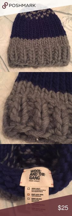 """New Free People Wool & Gang Beanie Great slouchy wool hat in """"crazy sexy wool""""! Free People Accessories Hats"""