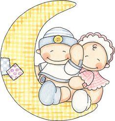 Imagenes de bebes en la luna para imprimir ,estas imagenes son idealespara trabajos manuales, imagenes de bebes para imprimir en manualidad...