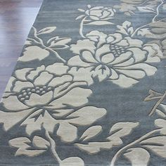 nuLOOM Handmade Pino Yarrow Floral Rug (8'3 x 11') | Overstock.com Shopping - Great Deals on Nuloom 7x9 - 10x14 Rugs