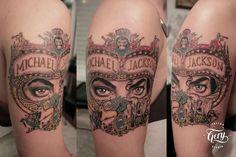 Tattoo Michael Jackson portada Dangerous - by Gery Masay www.facebook.com/gerytatu