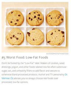 worst foods: low fat