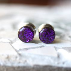 Purple Glitter Gauges