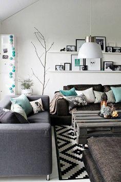 Pinterest: make enter the color in the living room