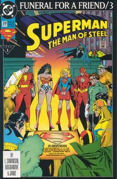 SUPERMAN THE MAN OF STEEL #20  DC COMICS  FEBRUARY 1993  $1.25    Funeral for a Friend Part 3