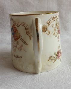 Aynsley Queen Victoria Commemorative Mug Longest Reign Diamond Jubilee 1897 | eBay