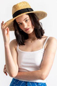 Women's Joanna Hat in Honey Fendi Peekaboo Mini, Wheat Straw, Straw Fedora, Beach Attire, Honey Colour, Caps For Women, Brim Hat, Grosgrain, Hats
