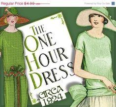 SALE 1920s 1 HOUR Dress -make Your own frock patterns DOWNTON Abbey Style - Vintage Flapper e-booklet pdf. $4.24, via Etsy.