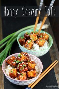 Crispy Honey Sesame Tofu - Domestic Superhero