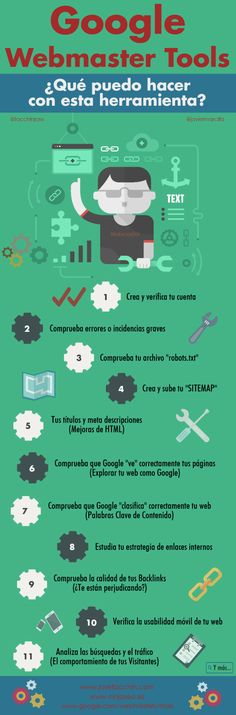 Google Webmaster Tool: ¿qué puedo hacer con esta herramienta? #infografia #infographic #seo See how I broke free from the Matrix for good at http://pinterest.corbintel.com