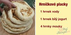 Vegetarian Recipes, Snack Recipes, Cooking Recipes, Healthy Recipes, Snacks, Czech Recipes, Ciabatta, Thing 1, Bread Baking