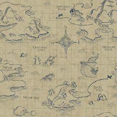 York Wallcoverings Walt Disney Kids II Pirate Map Wallpaper Grey/Khaki for sale online Bedroom Wallpaper Beige, Cream Wallpaper, Brown Wallpaper, Map Wallpaper, Nursery Wallpaper, Disney Wallpaper, Pattern Wallpaper, Wallpaper Backgrounds, Paintable Wallpaper