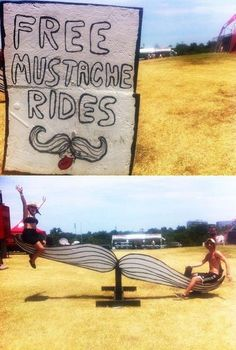 Free Mustache Rides!