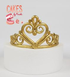 Gold Fondant Tiara Cake Topper 6 MADE TO ORDER