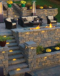 Hardscape Retaining Wall from Valley City Supply in Medina County, Ohio