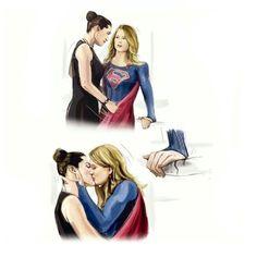 ♥️ Kara and Lena ♥️ Supergirl Superman, Supergirl 2015, Supergirl And Flash, Batgirl, Lesbian Art, Lesbian Love, Lesbian Couples, Lgbt, Kara Danvers Supergirl