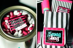 My Niece would LOVE this as her party take away favors!  It's girly but a little rock and roll :)