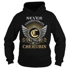 I Love Never Underestimate The Power of a CHERUBIN - Last Name, Surname T-Shirt T shirts