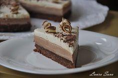 Tort cu crema de cafea si mousse de ciocolata alba