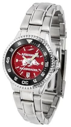 Arkansas Razorback Ladies Watch Stainless Steel Wristwatch