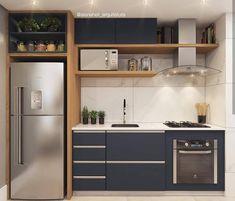 New Kitchen Remodel Plans Interior Design Ideas Kitchen Room Design, Modern Kitchen Design, Home Decor Kitchen, Interior Design Kitchen, New Kitchen, One Wall Kitchen, Kitchen Furniture, Compact Kitchen, Simple Furniture