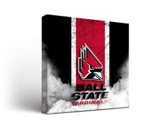Ball State Cardinals Vintage Canvas Print Square