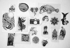 Estos diseños se quedaron en el papel... están disponibles para tatuar..