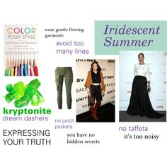 """""""Iridescent Summer's Must Avoids"""" by expressingyourtruth on Polyvore"""