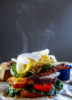 thanksgiving leftovers: roasted turkey potato chip BLAT with an egg I howsweeteats.com