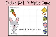 Free #easter #printable via www.prekinders.com #preschool  #kindergarten