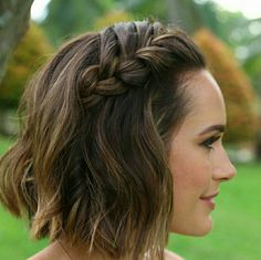Plait... Louise Roe. Must try this now I have a bob!