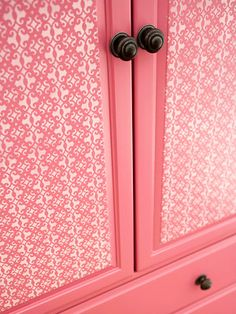 Stenciled Armoire Doors