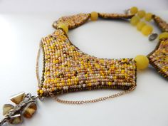 Sandy Beaded summer necklace seed beads for women girls