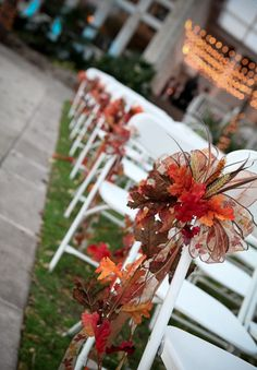 Fall Wedding Aisle Decorations to Blow Your Mind Away! Fall Wedding Aisle Decorations to Blow Your Mind Away! - stack of red books with white pages. 33 Fall Wedding Aisle Decorations to Blow Your Mind Away! Wedding Chair Decorations, Wedding Chairs, Wedding Seating, Wedding Ceremony, Fall Decorations, Wedding Themes, Wedding Table, Wedding Backdrops, Ceremony Backdrop