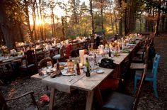 Al fresco. Feast in the woods Foto Wedding, Dream Wedding, Dream Party, Wedding Shit, Wedding Things, Wedding Stuff, Fresco, Woodlands Camping, Woodsy Wedding