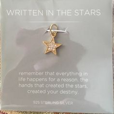 "Origami Owl core collection charm ""Written in the Stars"" Jewelry"
